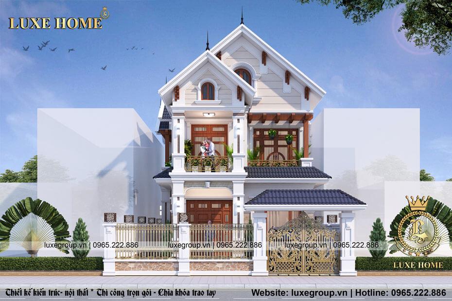 Mẫu biệt thự 2 tầng Pháp Nhà Chị Cam Hải Phòng – BT 21616