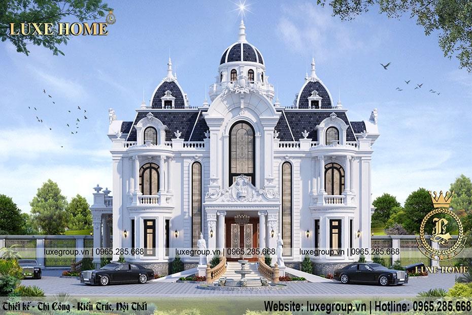 Mẫu Thiết kế dinh thự 2 tầng đẳng cấp và sang trọng – DT2205