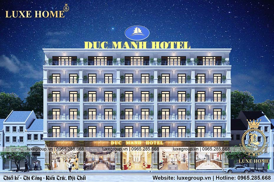 Mẫu khách sạn 6 tầng sang trọng, đẳng cấp – KS 61158