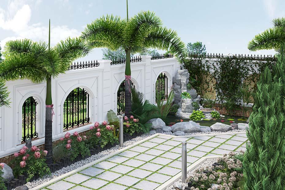 không gian sân vườn hòn nam bộ lâu đài ld 2208 02