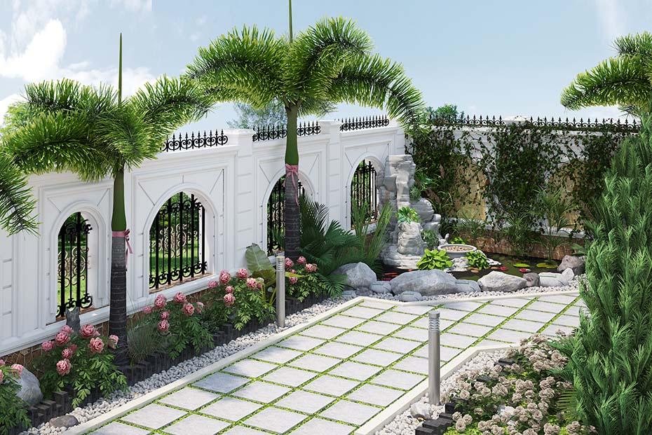 không gian sân vườn hòn nam bộ lâu đài ld 2208 03