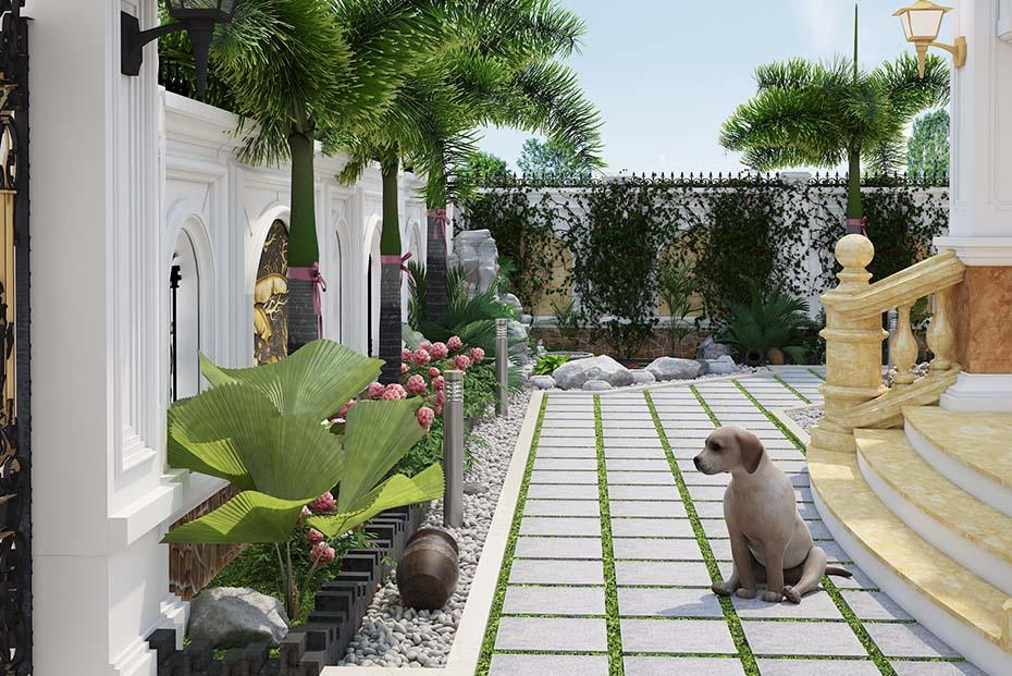 không gian sân vườn hòn nam bộ lâu đài ld 2208 01