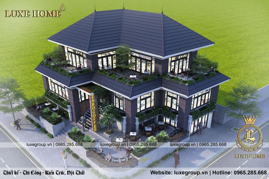 thiết kế biệt thự 2 tầng bt 21788