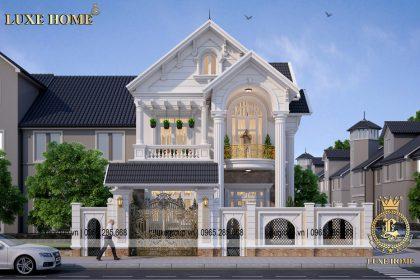 Thiết kế biệt thự 2 tầng tân cổ điển châu âu – BT 2181