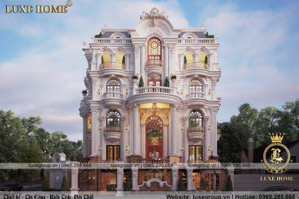thiết kế biệt thự 3 tầng tân cổ điển bt 31525