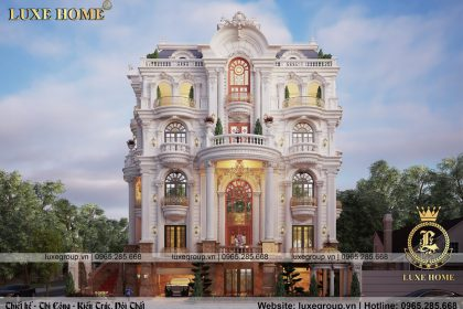 Thiết kế biệt thự 3 tầng tân cổ điển đẹp không rơi mắt – BT 31525