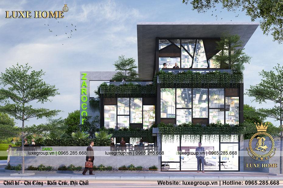 thiết kế biệt thự 2 tầng bt 21755