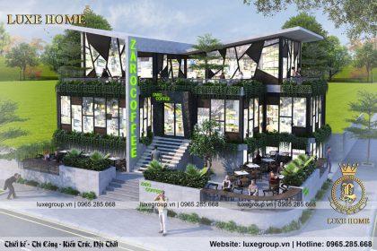 Biệt thự 2 tầng kết hợp quán cafe bt 21775
