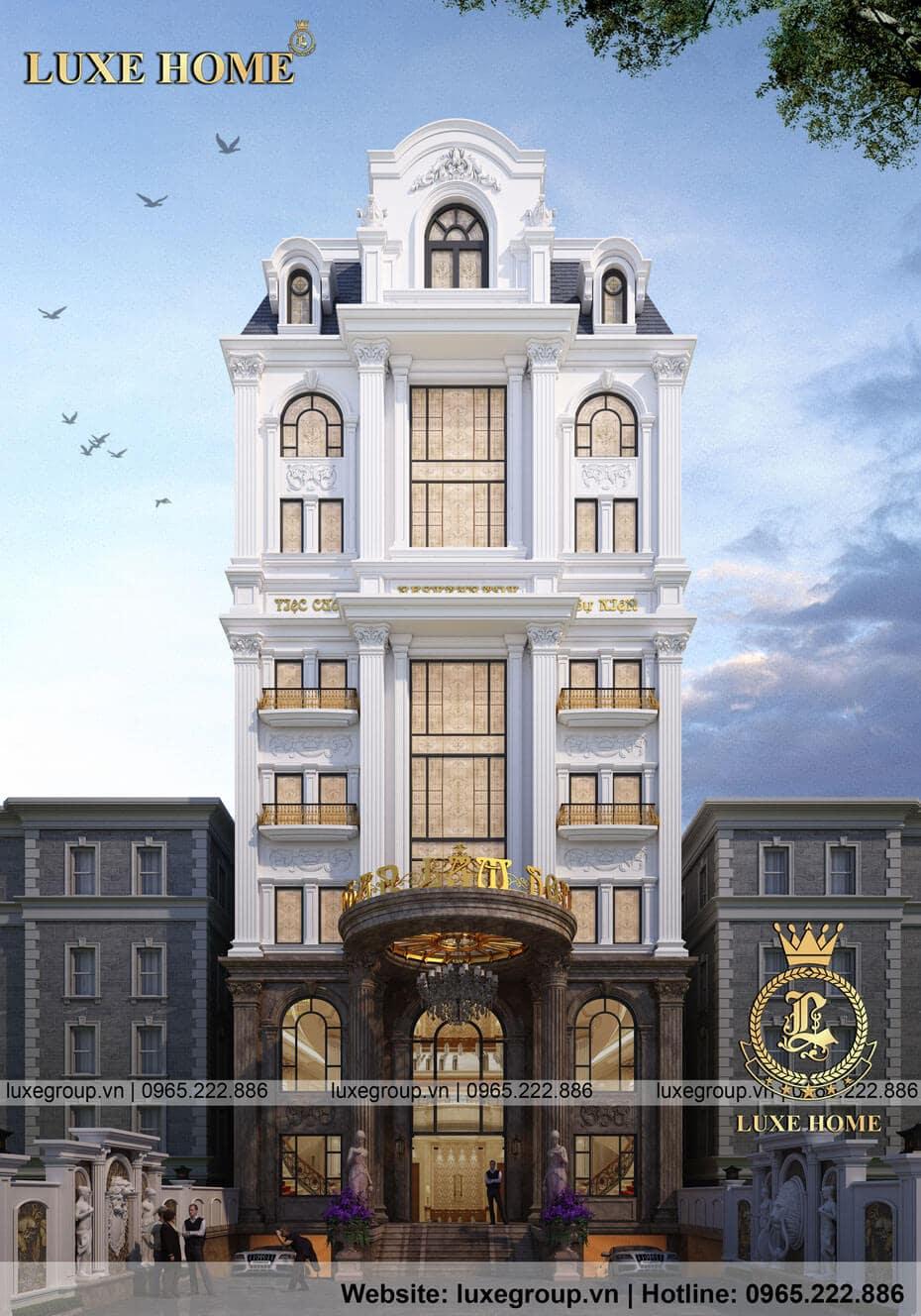 thiết kế khách sạn 8 tầng ks 81118