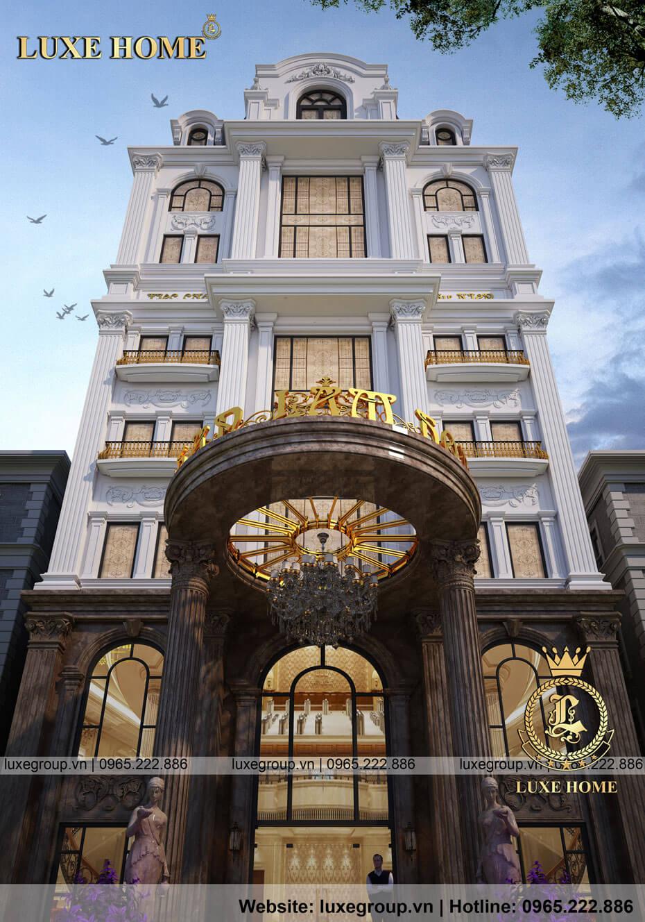 thiết kế khách sạn tân cổ điển ks 81118