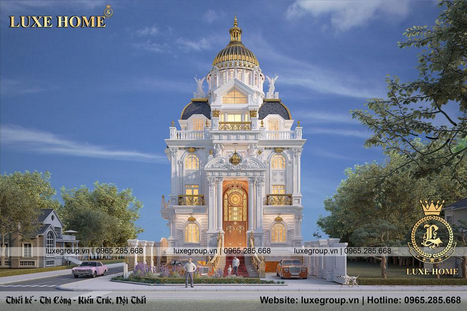 Thiết kế lâu đài 4 tầng cổ điển Pháp Tại Bình Dương – LD 4128