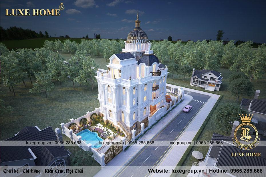 lâu đài cổ điển pháp 4 tầng ld 4128