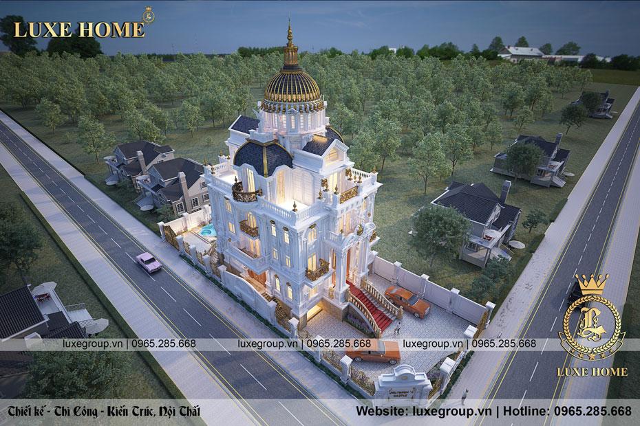 thiết kế lâu đài 4 tầng ld 4128
