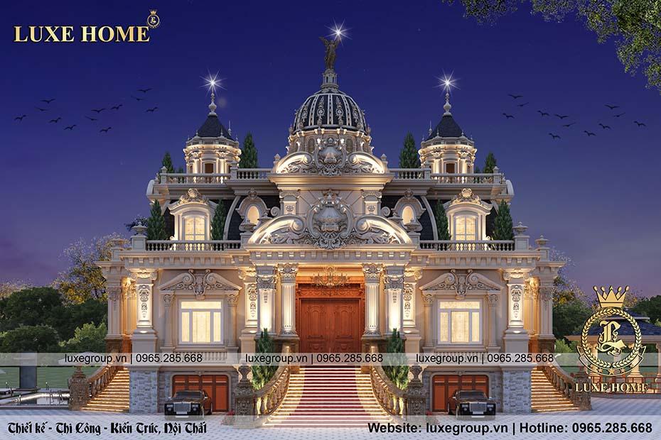 thiết kế lâu đài pháp 2 tầng cổ điển ld 2210