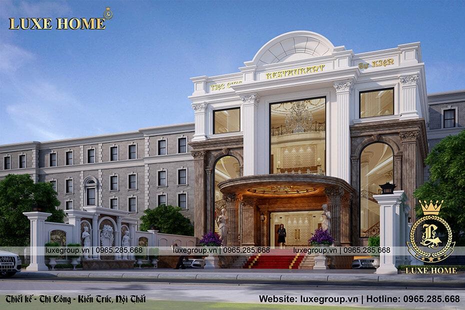 thiết kế nhà hàng tân cổ điển 3 tầng nh 3186