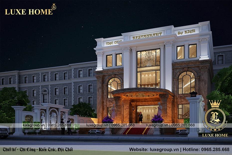 nhà hàng 3 tầng phong cách tân cổ điển nh 3186