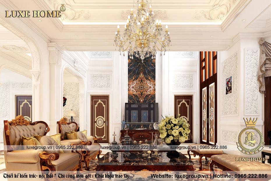 thiết kế nội thất phòng khách 01