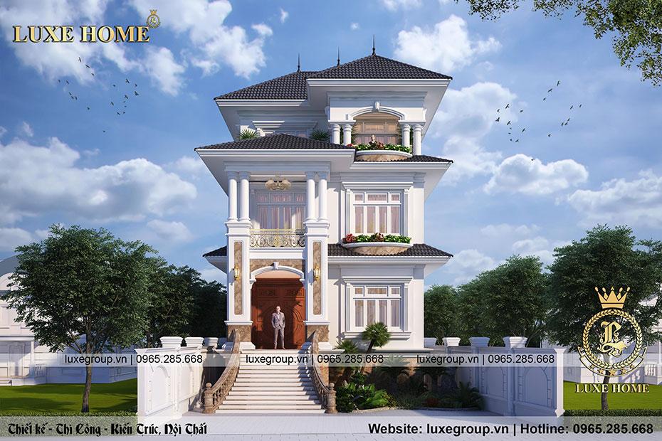 Biệt thự 3 tầng tân cổ điển Anh Sang 250m2 – BT 3207