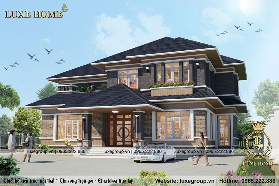 Biệt thự hiện đại 2 tầng mái thái Tại Vĩnh Long – BT 2235