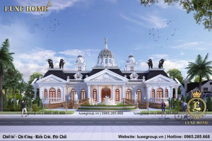 Biệt thự lâu đài 1 tầng tân cổ điển sân vườn thế giới – LD 1168