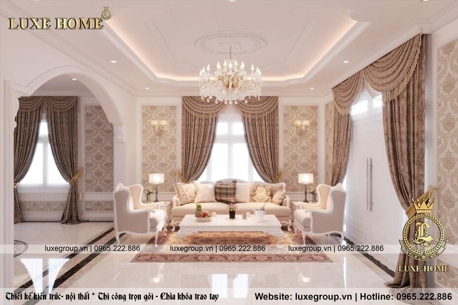 Thiết kế nội thất nhà theo phong cách tân cổ điển – NT 2112