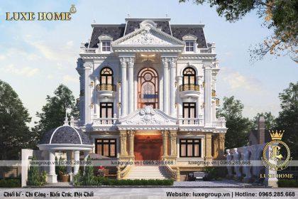 Thiết kế biệt thự Pháp cổ điển 3 tầng tại Quảng Ninh – BT 3236
