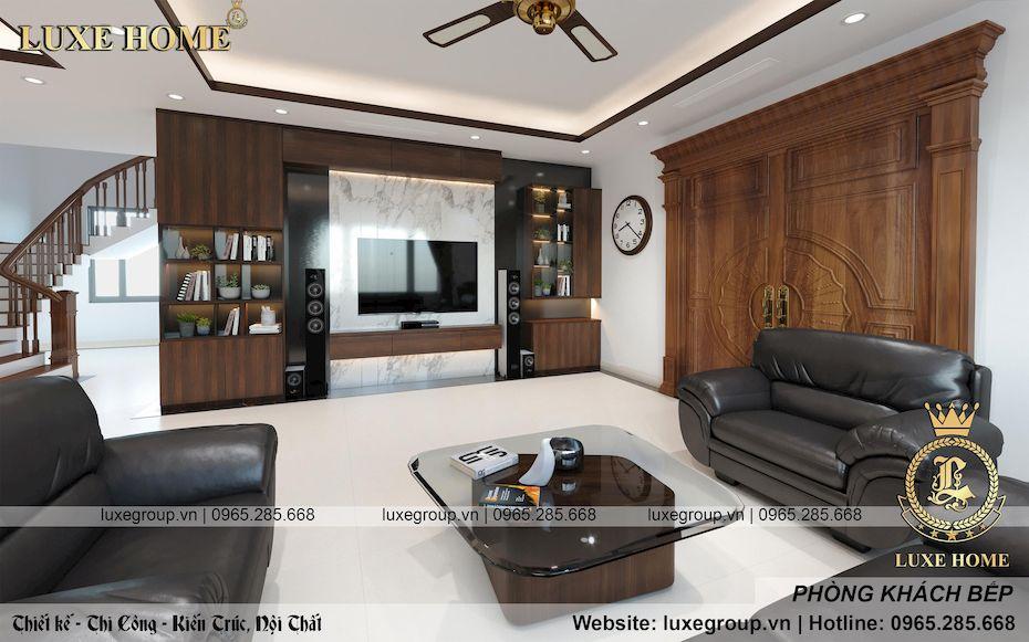 Thiết kế nội thất hiện đại của gia đình Cô Hà – NT 3123