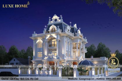 Thiết kế biệt thự pháp 3 tầng tân cổ điển đẹp – BT 3249