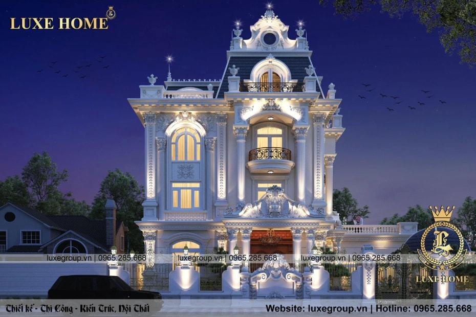 Thiết kế biệt thự pháp 3 tầng tân cổ điển đẹp – BT 33379