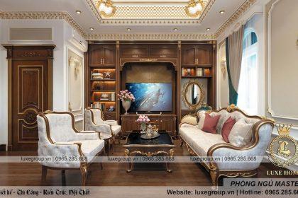 Thiết kế nội thất tân cổ điển 2 tầng tại Long An – NT 2247