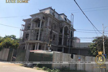 Thi công mẫu biệt thự 3 tầng pháp Anh Sơn Bắc Ninh – TC 3249