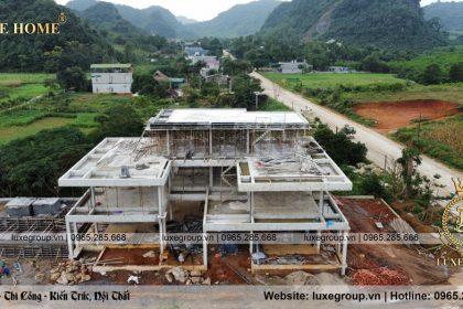 Thi công biệt thự 2 tầng hiện đại Nhà Anh Nam Tại Ninh Bình – TC 2125