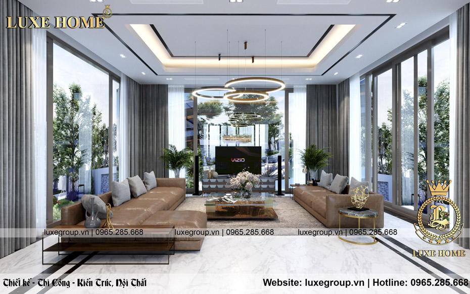 Chiếm ngưỡng nội thất hiện đại biệt thự gia đình Anh Nam – NT 2125