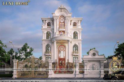 Thiết kế biệt thự 5 tầng kiểu pháp sang trọng – BT 5119