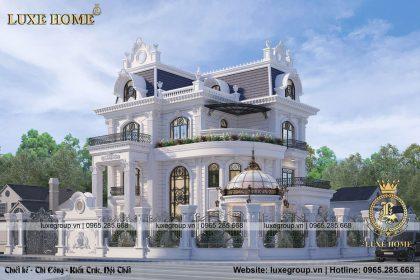 Thiết kế biệt thự 3 tầng tân cổ điển 2 mặt tiền – BT 3134