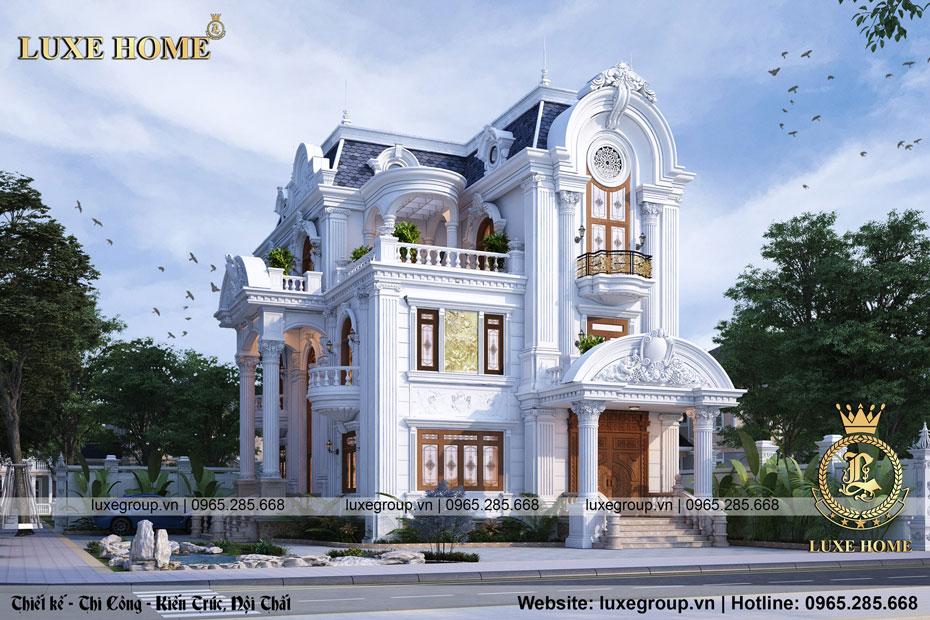 Thiết kế biệt thự cổ điển 3 tầng Pháp diện tích 10x16m – BT 3141