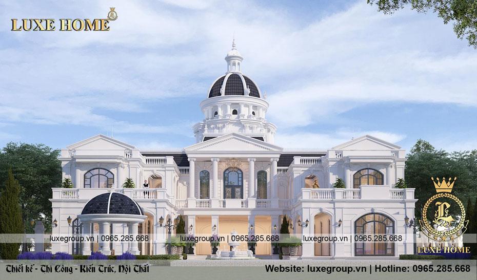 thiết kế văn phòng lâu đài 2 tầng ld 2130