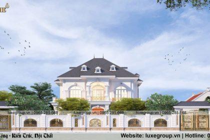 Thiết kế biệt thự sân vườn 2 tầng tân cổ điển Hà Nội – BT 2281