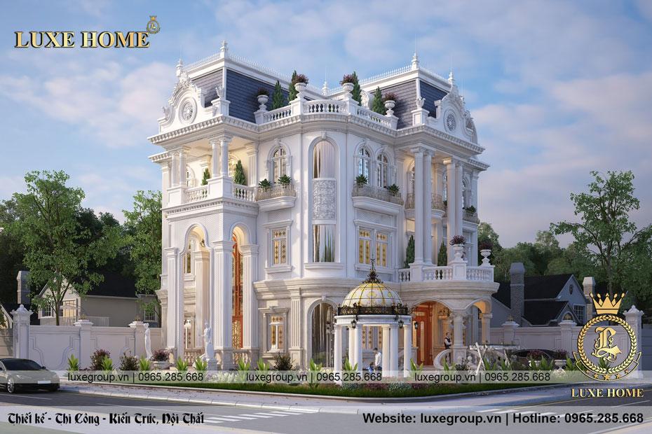 Thiết kế biệt thự 3 tầng tân cổ diện tích 14x18m – BT 3257