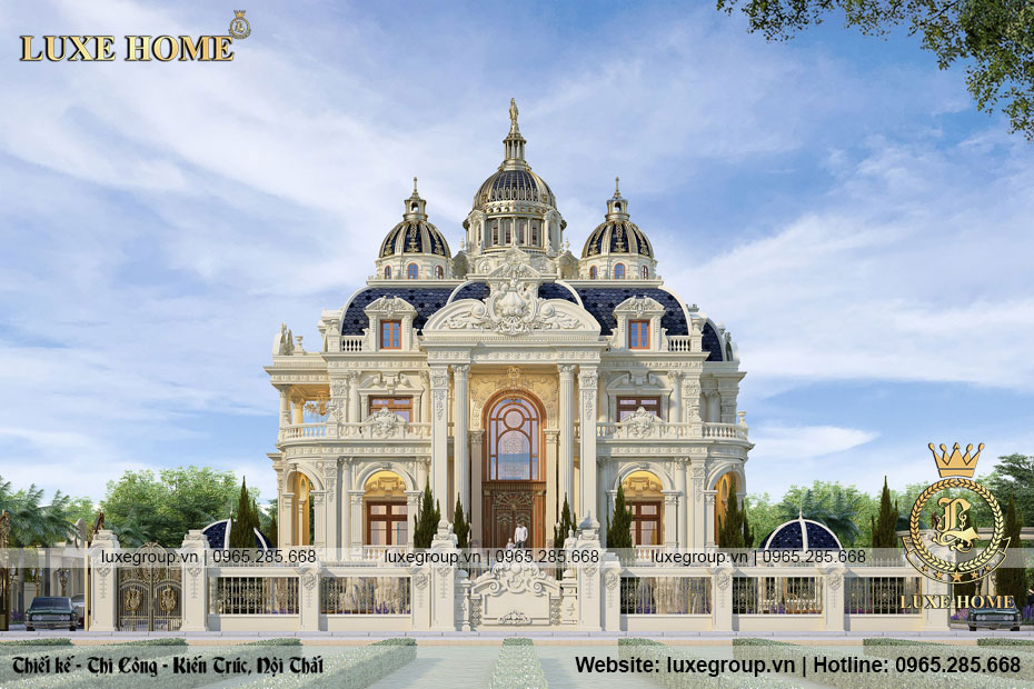 thiết kế lâu đài cổ điển 2 tầng pháp ld 2283