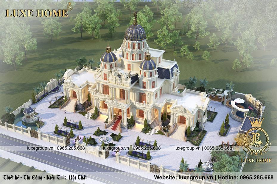 mẫu lâu đài dinh thự 3 tầng cổ điển ld 3254