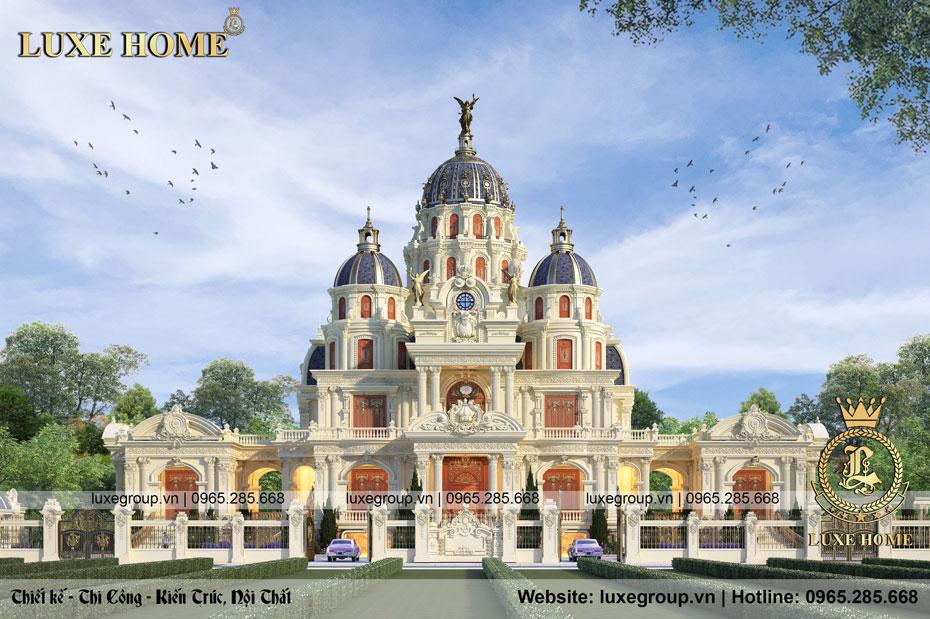 Mẫu lâu đài dinh thự 3 tầng cổ điển đẹp mê ly – LD 3254