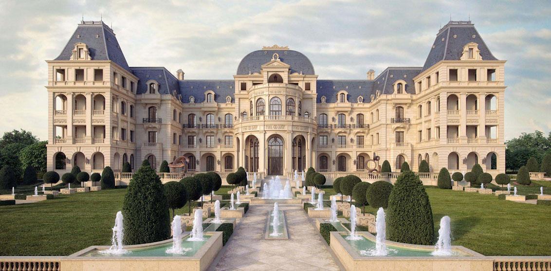 mẫu kiến trúc lâu đài pháp