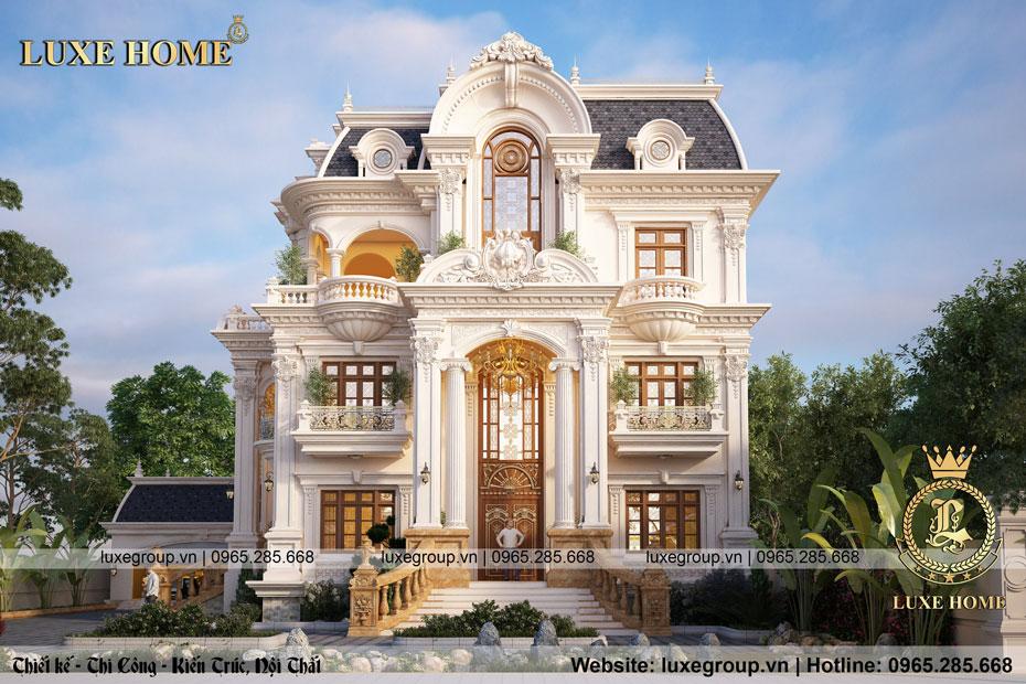 Mẫu thiết kế biệt thự tân cổ điển 3 tầng pháp lộng lẫy – BT 3258