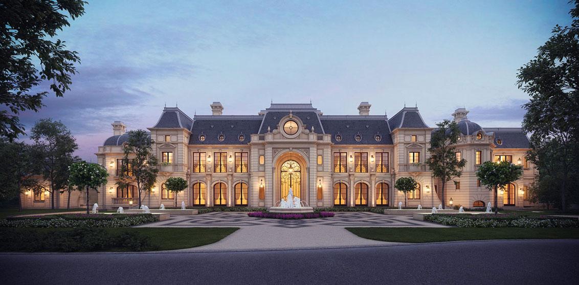 thiết kế lâu đài châu âu