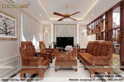 Thiết kế nội thất biệt thự tân cổ điển Anh Sơn – NT 2246