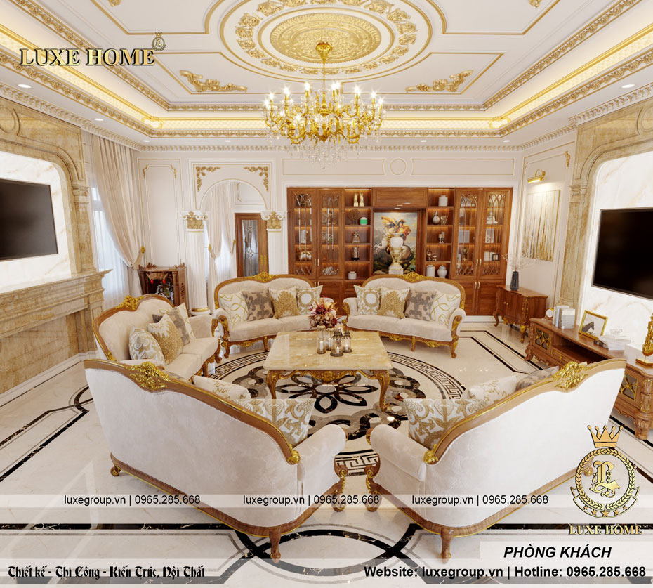 nội thất biệt thự tân cổ điển sang trọng bt 3246 02