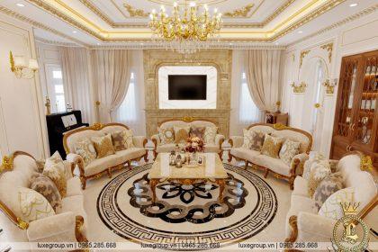 thiết kế nội thất biệt thự tân cổ điển nt 3207