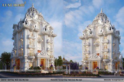 Thiết kế biệt thự 5 tầng tân cổ điển hót nhất hiện này – BT 5125