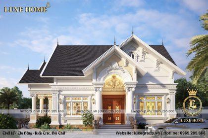 Thiết kế biệt thự 1 tầng tân cổ điển tại Tiền Giang – BT 1122